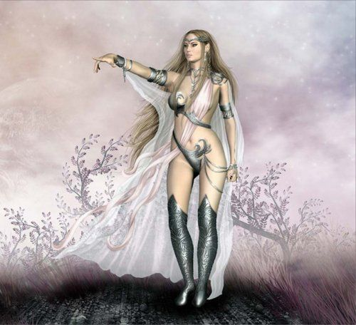 voluptuosa reina de los elfos